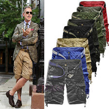 Hot Men Casual Army Cargo Combat Camo Camouflage Overall Shorts Sports Pants
