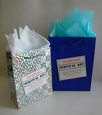 MALE 70th Birthday SURVIVAL KIT Novelty Gift  Idea Alternative To Greeting Card