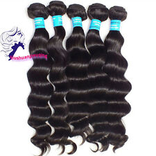 1 pc 100% 6A virgin unprocessed loose deep wave Extension Weave peruvian hair BL