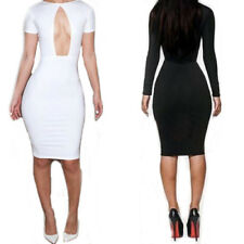 Sexy Women Short Sleeve Bodycon Bandage Party Fashion Cocktail Dress Clubwear