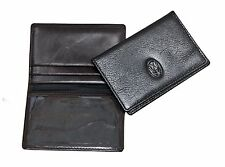 Leather Slim / Thin Credit Card Holder ID Wallet BLK/BRN/RED (514)