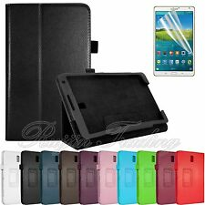 "Flip Folio PU Leather Case Stand Cover For Samsung Galaxy Tab S 8.4"" T700 + Film"