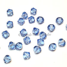 5mm Light Sapphire (211) Swarovski crystal 5328 / 5301 Loose Bicone Beads