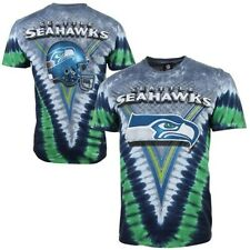 Seattle Seahawks Tie-Dye Premium T-Shirt - Gray/College Navy/NFL Shirt