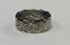 Coin ring made from AUSTRALIAN Half Dollar in size 9-14