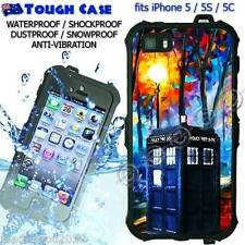 TOUGH Waterproof CASE COVER iPhone 5 5S 5C Doctor WHO Tardis Painting DR9