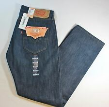 New Men's Authentic Levi's 501 Straight Leg Medium Blue Button Fly Jeans XX1433