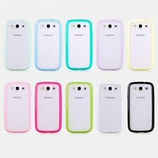 Bumper Transparent Soft Back Case Cover For Samsung Galaxy S3 SIII I9300 I9305
