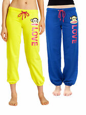 Paul Frank Love Ahoy Julius Fleece Casual Lounge Sweatpants Blue or Yellow
