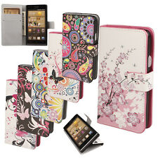 FL Watercolor Flip Leather PU Wallet Stand Case Cover for Huawei Ascend G6 3G