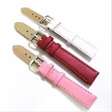 New 12 14 16 18 20 mm Pink Red White PU Watchband Watch Band Strap Bracelet