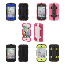 Heavy Duty Survivor All-Terrain Case + Belt Clip for iPod touch 4th Gen.