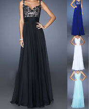 New Long Bead applique Evening Ball Cocktail Prom Dress Bridesmaid Dresses Gown
