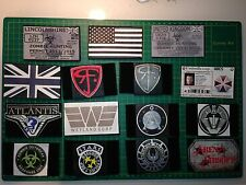 Pair Zombie Hunting Permit Velcro Patches Airsoft keep calm stargate flags