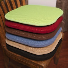 Memory Foam Honeycomb Stripes Non-Slip Back Chair/Seat Cushion Pad - 2 Pack