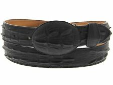Mens black leather belt crocodile alligator exotic western cowboy for boots new