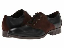 Men's Shoes Cole Haan Copley Saddle Oxford Leather Oxfords Black/Chestnut *New*