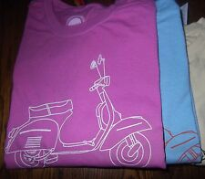 S M L XL 2XL T Shirt of Vintage Vespa Moped, Scooter life is good,NWT Tee New