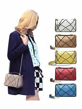 2014 Genuine Leather Irregular Grid Pattern Shoulder Handbag Chain Clutch Bag