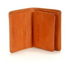 Tony Perotti Italian Leather Front Pocket Vertical Trifold Wallet w/ ID