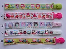 pacifier holder / soother / pacifier clip / Owl