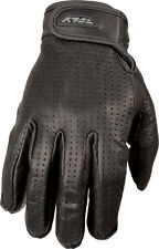 FLY Racing Rumble Leather Gloves - Perforated Motorcycle Gloves Adult