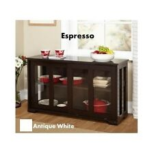 Storage Stackable Cabinet Buffet Wood Table Kitchen Pantry Dining Room Credenza