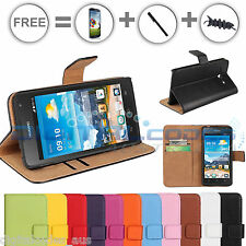 Premium Huawei Ascend Y530 Genuine Leather Wallet Case Cover Stand Telstra