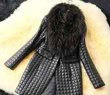 New Coat Imitated Fox fur collar sheep skin Women Long Jacket Warm in winter