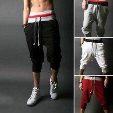 Mens Sports Capri Rope Shorts Baggy Pants Casual Trousers Baggy Pants Jogging