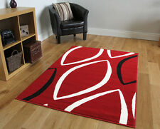 Red Modern Non Shed Bubble Design Mats Cheap Soft Oval Print Area Carpet Rugs