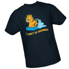 GARFIELD - I DON'T DO MORNINGS -- Adult Size T-Shirt