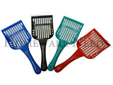 Plastic Cat Pet Animal Litter Tray Poop Scoop Sieve (Choose Your Colour)
