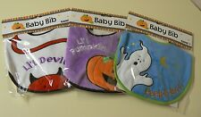 Ganz HALLOWEEN Baby Bib 3 varieties Peek A Boo - Little Devil - Little Pumpkin
