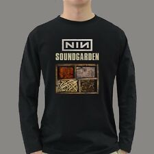 NIN Nine Inch Nail Soundgarden tour 2014 concert Rock Band top T Shirt