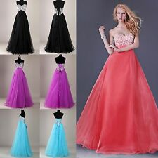 CHEAP Dazzling Beadwork Beaded Formal Bridesmaid Evening Long Prom Party Dresses