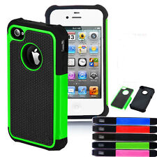 For iPhone 4 4G 4S Heavy Duty Hybrid Rugged Hard Silicon Back Case Cover Setting