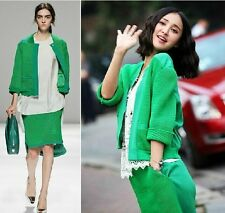 2014 new style arrivaLOccident fashion kintting Cardigan+vest + skirts suits
