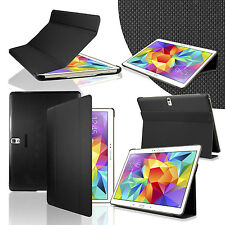 """PU Leather Smart Book Case Stand Cover For Samsung Galaxy Tab S 10.5"""" SM-T800"""