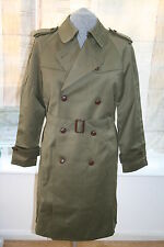 mens spanish military trenchcoat (new old stock 1980s) top quality gaberdine
