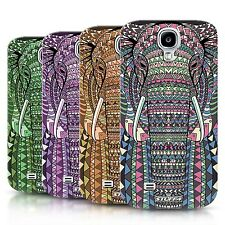 Phone Case Back Cover/Skin for Samsung Galaxy S4 / Aztec Animals Elephants