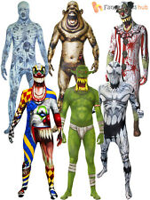 Adult Morphsuit Monster Mens Halloween Zombie Horror Fancy Dress Costumes Party