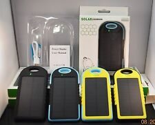 5000mAh Waterproof Solar Power Bank Battery Charger for cell phones, iphone