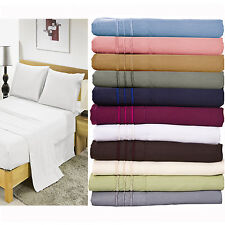 2000 Count Solid 3 Piece Bedding Deep Pocket Bed Sheet Set 9 Colors Twin/Twin XL