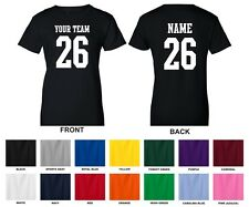 Custom Personalized Your Text, Name, Number STRAIGHT TEXT Sports Women's T-shirt