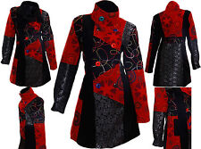 Designer Patchwork Coat Valance Winter Trench Buttons Jacket 36 to 46 A6 - R