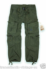 Military Surplus Mens Combat Trousers Army Cargo Work Wear Pants Vintage Olive