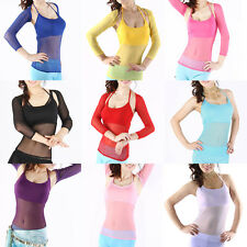Women sleeveless Belly Dance Costume Sexy Dancing Top Vest Without Sleeves