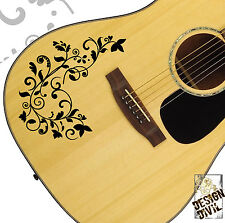 The Vine Swirl Quality Vinyl Tattoo Decal for Acoustic Electric & Bass Guitars