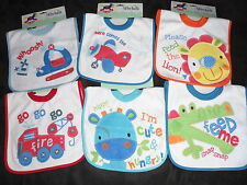 "Babies Cute ""Hungry Animal"" Or ""Vehicle"" Pop Over Bib by Rock a Bye Baby"